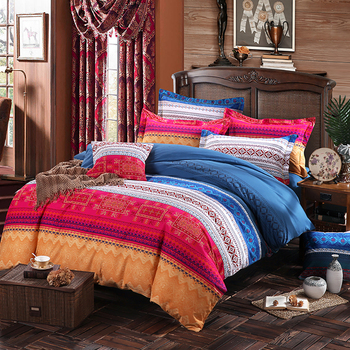 SUCSES Cotton Bohemian Duvet Cover Ethnic Retro Boho Bedding Set Twin Full Queen King Exotic Style Indian Tribal Comforter Cover
