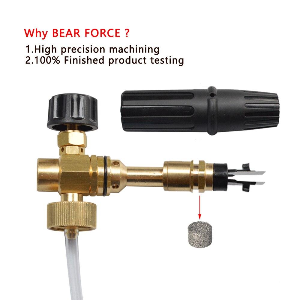 Foam Generator/ Foam Nozzle/ snow foam lance/ foam spray gun/ High Pressure Soap Foamer for NILFISK Pressure Washer Car Washer