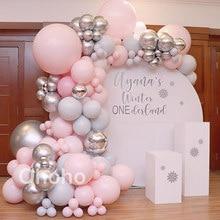 Balões orgânicos kit guirlanda pastel baptizado crianças bebê 1st festa de aniversário balão arco conjunto de casamento nupcial decoração do chuveiro