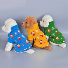 Dog Sweater Jumper Knitwear Puppy Christmas-Clothes Pet Medium Warm Cat for Small And