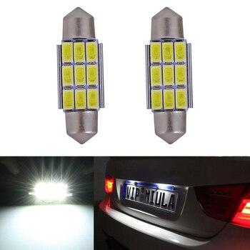 2x cúpula festón 5630 libre de Error número de licencia Placa de luz para Audi A2 A3 A4 A5 A6 A7 A8 Q5 Q7 R8 RS4 RS5 RS6 RS7 TT 8L 8P B5 B6