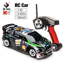 Wltoys K989 1/28 2.4G 4WD samochód szczotkowany RC zdalnie sterowanym samochodowym samochód wyścigowy RTR Drift Alloy Off samochód Crawler zabawki modele