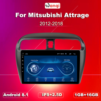 9 inch Android 8.1 2.5D Tempered HD Touchscreen Radio for Mitsubishi mirage attrage 12-18 with Bluetooth USB WIFI support SWC image