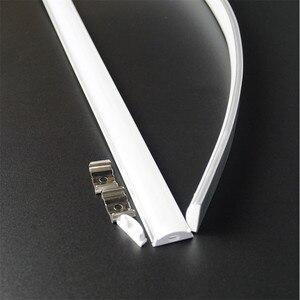 Image 3 - 5pcs of 50cm flat U type 6mm height slim led aluminium profile ,flexible led channel ,bendable matte diffuser bar light housing