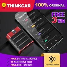 Thinkcar thinkdriver profissional obd2 bluetooth para ios android scanner de carro obd 2 leitor de código diagnóstico do carro ferramentas automotivas