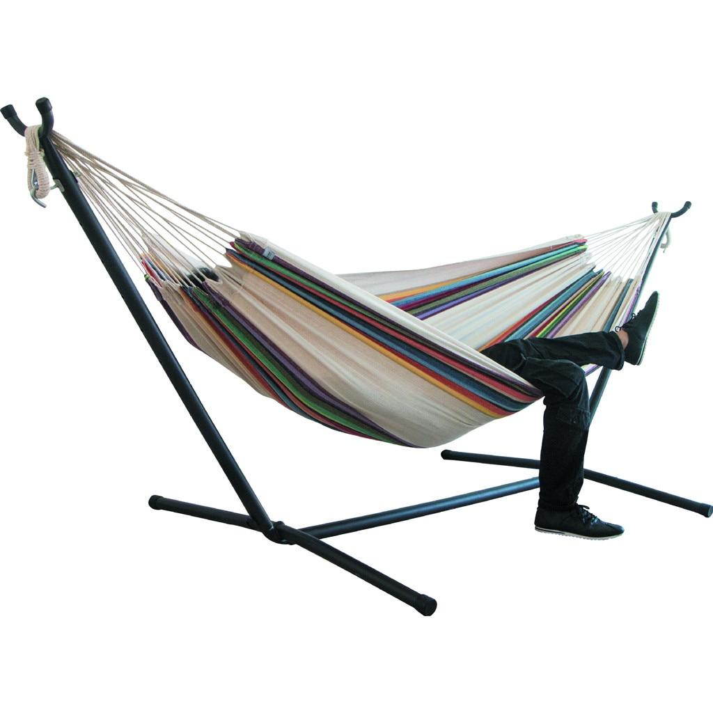 Гамак для двух человек, утолщенное качающееся кресло для кемпинга, уличная подвесная кровать, холщовое кресло-качалка, не со стойкой для гам...