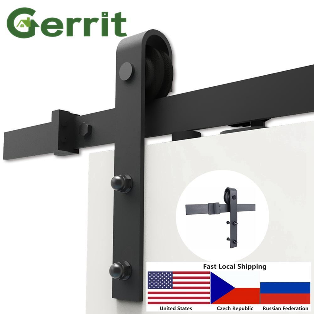 Almacén Local 4 9FT/6FT/6 6FT/8FT pesado resistente herrajes para puertas corredizas de granero de bien y en silencio, fácil de instalar
