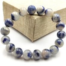 Top Natural Blue Dumortierite Quartz Rutilated 12mm Crystal Women Men Gemstone Round Beads Rare Reiki Stone Bracelet AAAAA 3axis nema34 closed loop stepper motor 86hbm100 1000 1 12nm 1275oz in 80v closed loop system driver ss880 high quality