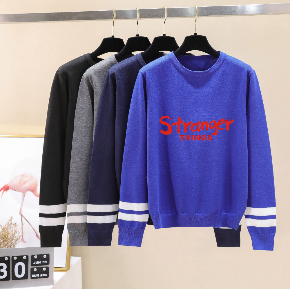 Stranger Things O-Neck Sweater Men/women Autumn Winter New Fashion Print Long Sleeve Warm Casual Knitted Casual Sweater Top