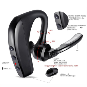 Image 2 - K10 Bluetooth Oortelefoon Draadloze Business Hoofdtelefoon Stereo Handsfree Ruisonderdrukking Bluetooth Headset Hd Mic Niet Tws Oordopjes