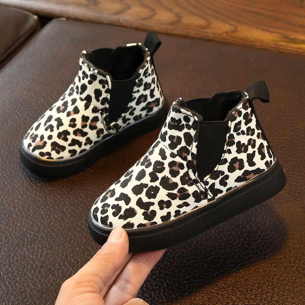 Kinder Kinder Stiefel Baby Mädchen Jungen Leopard Winter Warme Kurzen Schnee Stiefel Kinder Casual Schuhe Детская Обувь Botte Enfant Fille 2019