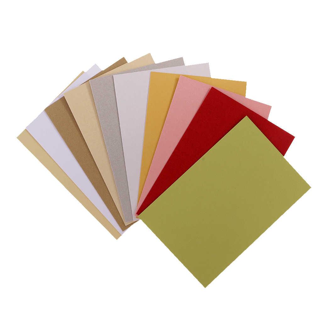 50 Tờ Ngọc Trai Cardstock Giấy Thủ Công Đặc Sản Giấy Các Loại Màu Sắc Cho Thẻ Hàng Thủ Công