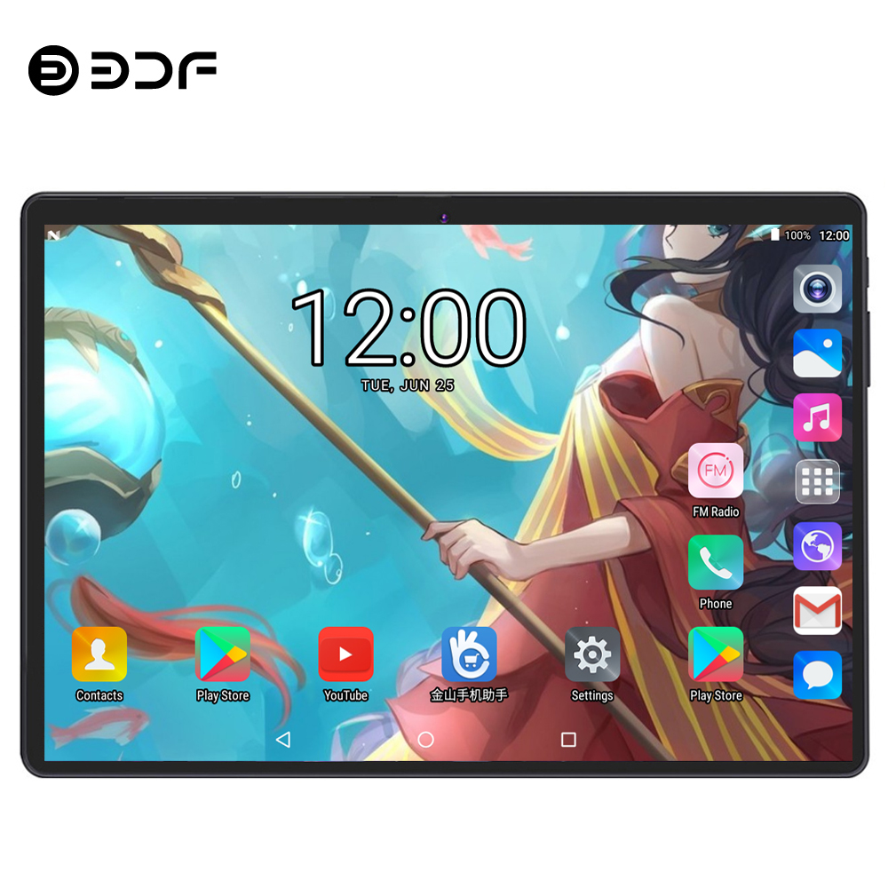 BDF Tablet 10 Inch Tablet Pc Android 7.0 1GB/32GB Quad Core 1280*800 IPS Bluetooth WiFi 3G Phone Tablets 10 Tab Android Tablet