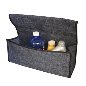 Image 5 - Car Soft Felt Storage Box Trunk Bag Vehicle Tool Box Multi use Tools Organizer Bag Carpet Folding for emergency Box