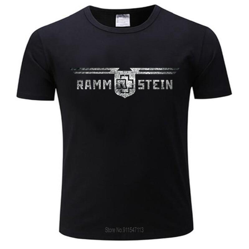 Черный для мужчин футболка рамштайн металла Германии, брендовая новая футболка Хлопковая футболка для мужчин летний бренд shubuzhi футболку ра...