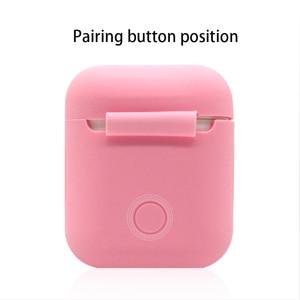 Image 4 - ソフトシリコンケースアップルの airpods ケース bluetooth ワイヤレスイヤホン保護カバーボックス用ポッド耳ポッドバッグ