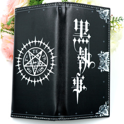 Black Butler Anime Black Synthetic Leather Wallet Ciel Phantomhive Card Holder Purse
