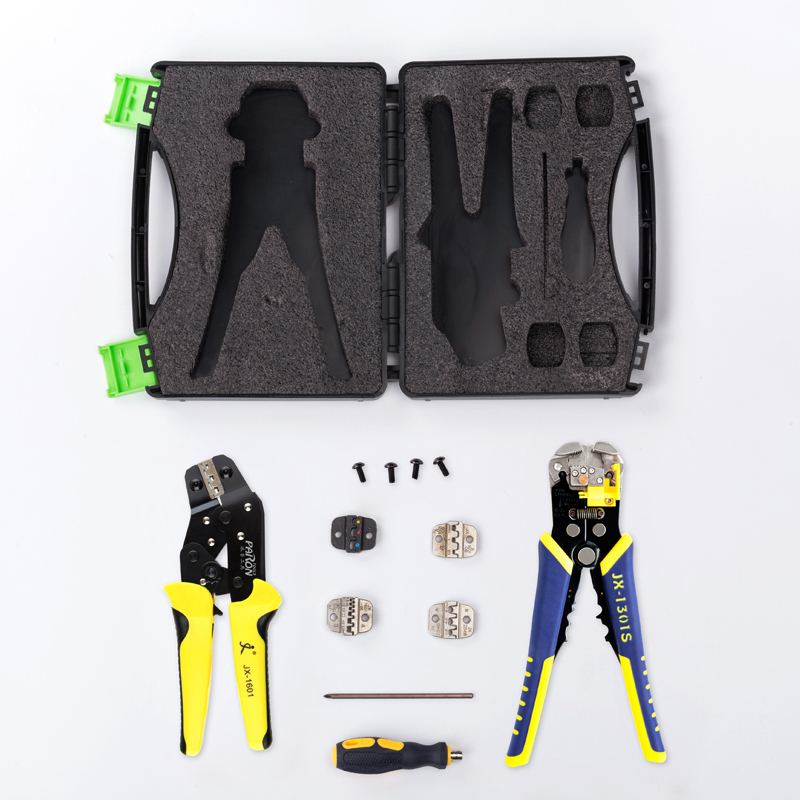 Tools : Professional Multifunctional Ratchet Terminal Crimping Tool Wire Strippers Terminals Pliers Kit Set
