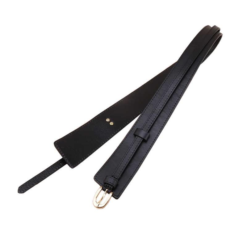 الغربية جلد طبيعي جوكر المرأة Cummerbund موضة انفصال فستان أسفل معطف المرأة حزام عريض