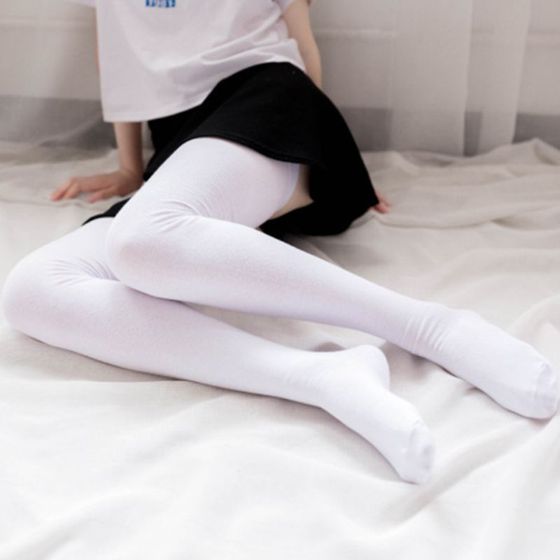 Women Winter Extra Long Cotton Thigh High Stockings Solid Color Elastic Rib Top Over The Knee Boot Socks Leg Warmers