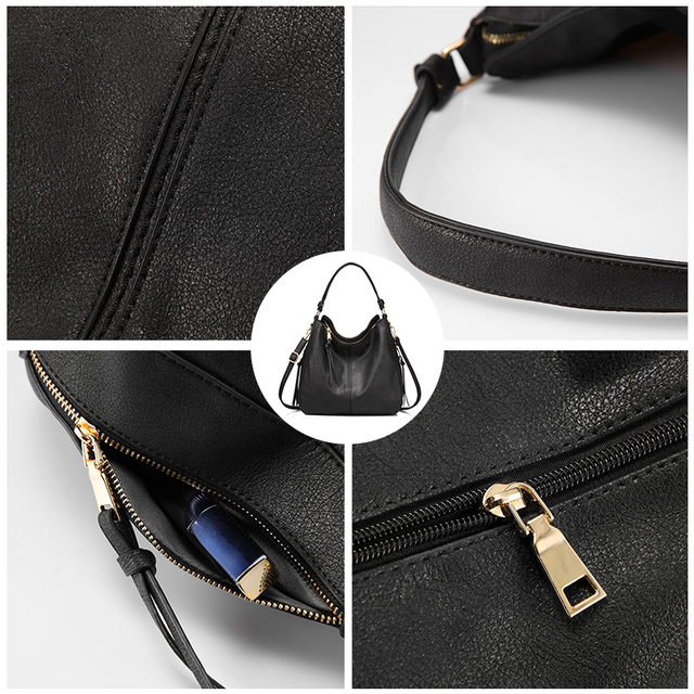 REALER handbags women shoulder crossbody bag female casual large totes high quality artificial leather ladies hobo messenger bag 4