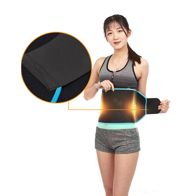 Adjustable Waist Tummy Trimmer Slimming Sweat Belt Fat Burn Shaper Wrap Band Weight Loss Exercise back support for lift XA14E 4