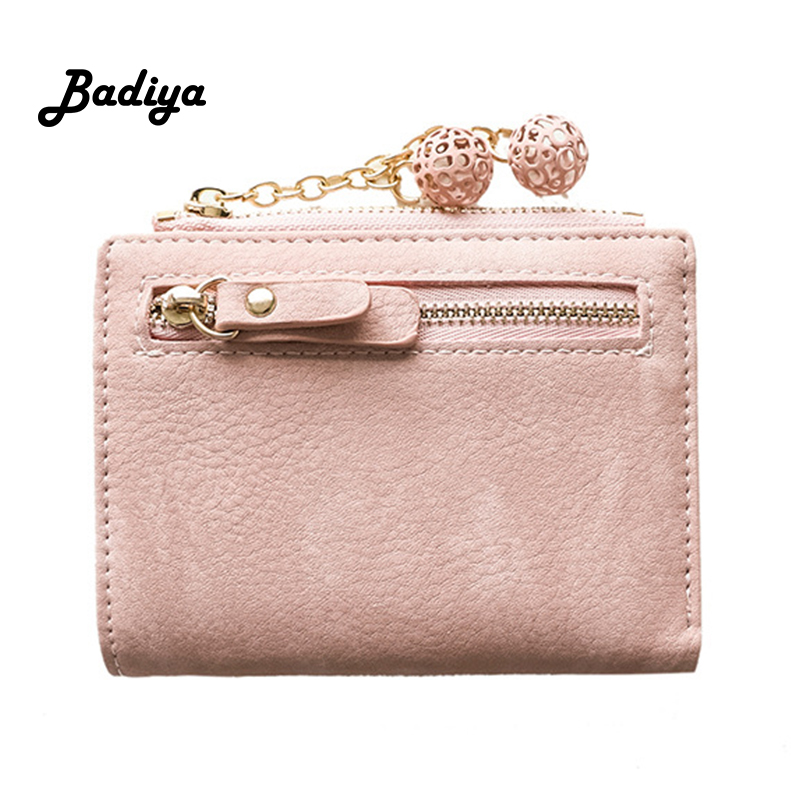 Women Wallet PU Leather Short Zipper Coin Purse Multi-card Position Credit Card Holder Bifold Fashion Cute Female Clutch Bag