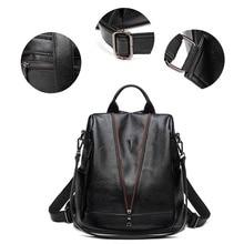 Litchi pattern Women Backpack High Quality Youth Leather Backpacks for Teenage Girls Female School Shoulder Bag Bagpack mochila