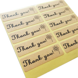 100 Pcs/lot 'Thank You' Flower Sticker Adhesive Sticker For Hand Made Gift Child Stationery Stickers Srapbooking