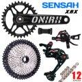 Задний переключатель передач для горного велосипеда SENSAH, 12 Скоростей, переключатель передач для велосипеда, кассета 1x12, кривошипная цепь XT ...