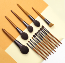 OVW Cosmetic Makeup Tools Brush Set Horse Goat Hair 15 pcs Tapered Blending Make up Brushes Natural Hair Brush Shadow Shader classic makeup brush m series natural goat hair tapered eyeshadow blending eye contour sweep smudge nose highlighter brush