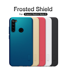 for xiaomi redmi note 8 Case redmi note 8 cover NILLKIN Super Frosted Shield Hard Back Bumper Cover Case with gift Phone Holder стоимость