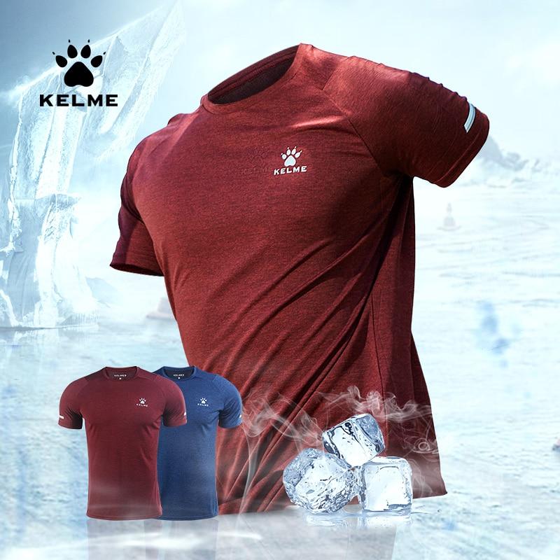 KELME Mens Running Quick Drying Short Sleeve T-Shirt Black Athletic Mens Breathable Workout/Shirts