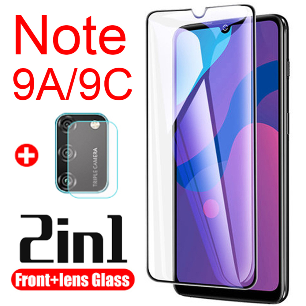 Protective Glass Honor 9a For Huawei Honor9c 9c Screen Protector Armored Honor9a Tempered Glas 9 A C A9 C9 With Camera Lens 2in1