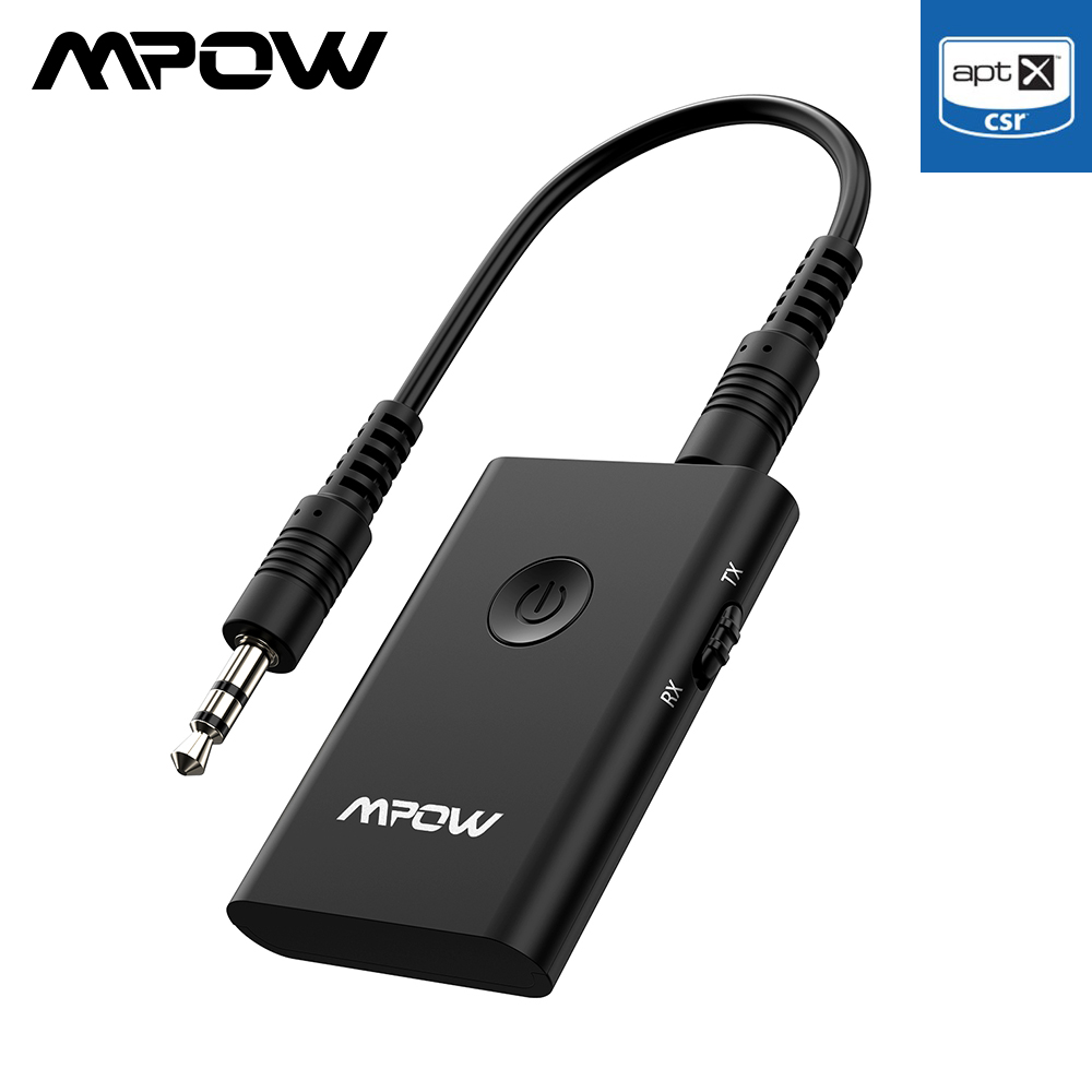 Adaptador de Audio inal/ámbrico Bluetooth 5.0 con est/éreo Envolvente 3D Mpow Adaptador Bluetooth Adaptador de m/úsica inal/ámbrico port/átil con Carga r/ápida y Asistente de Voz para autom/óvil//hogar