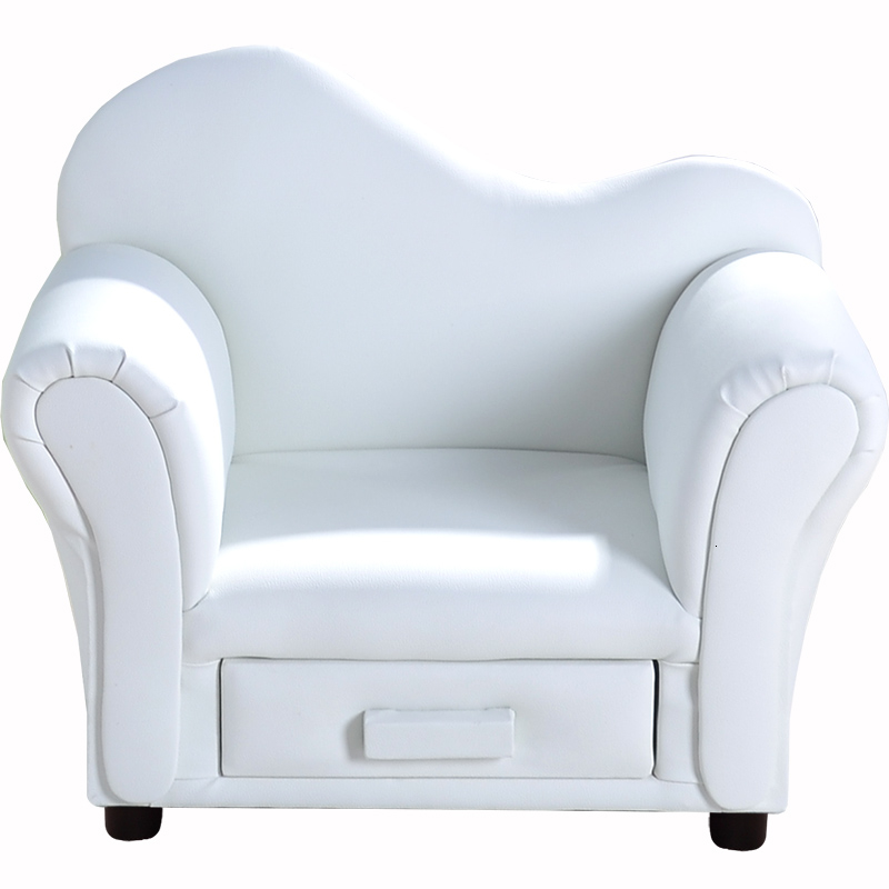 Nordic Housing Stock Lovely Small Sofa Leather Cartoon Sofa Chair Bean Bag Zitzak Children Bedroom White Baby Furniture
