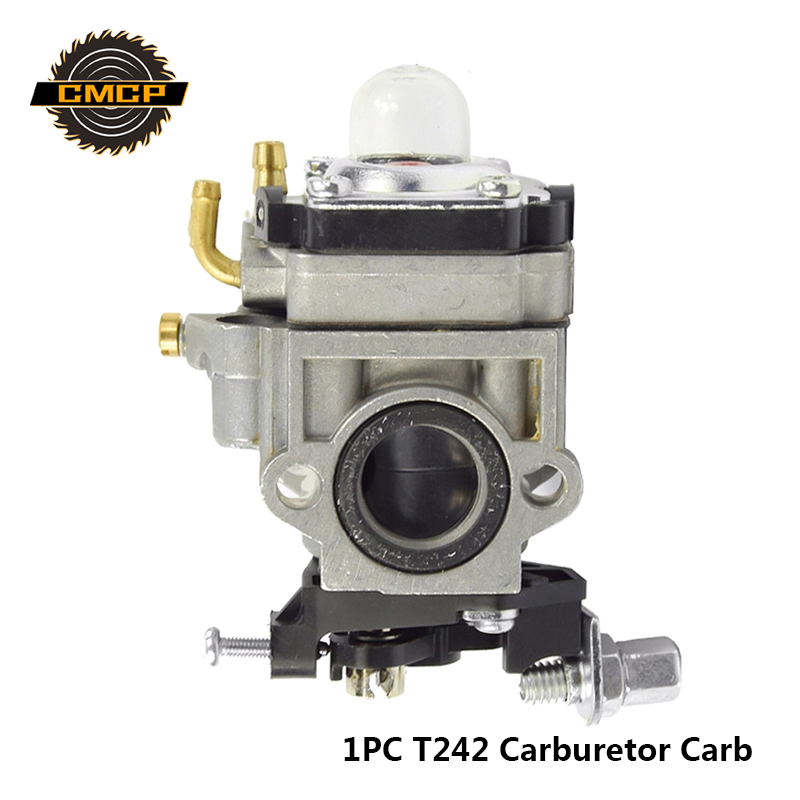 Freeshipping 1pc T242 Carburetor Gasoline Engine Fit For TU26 32F 34F 36F BrushCutter Carburetor Carb  Walbro Trimmer Carburetor