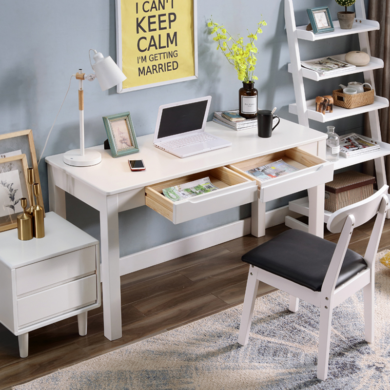 White Solid Wood Computer Table Simple Modern Desk Home Student Writing Desk Bedroom Aliexpress