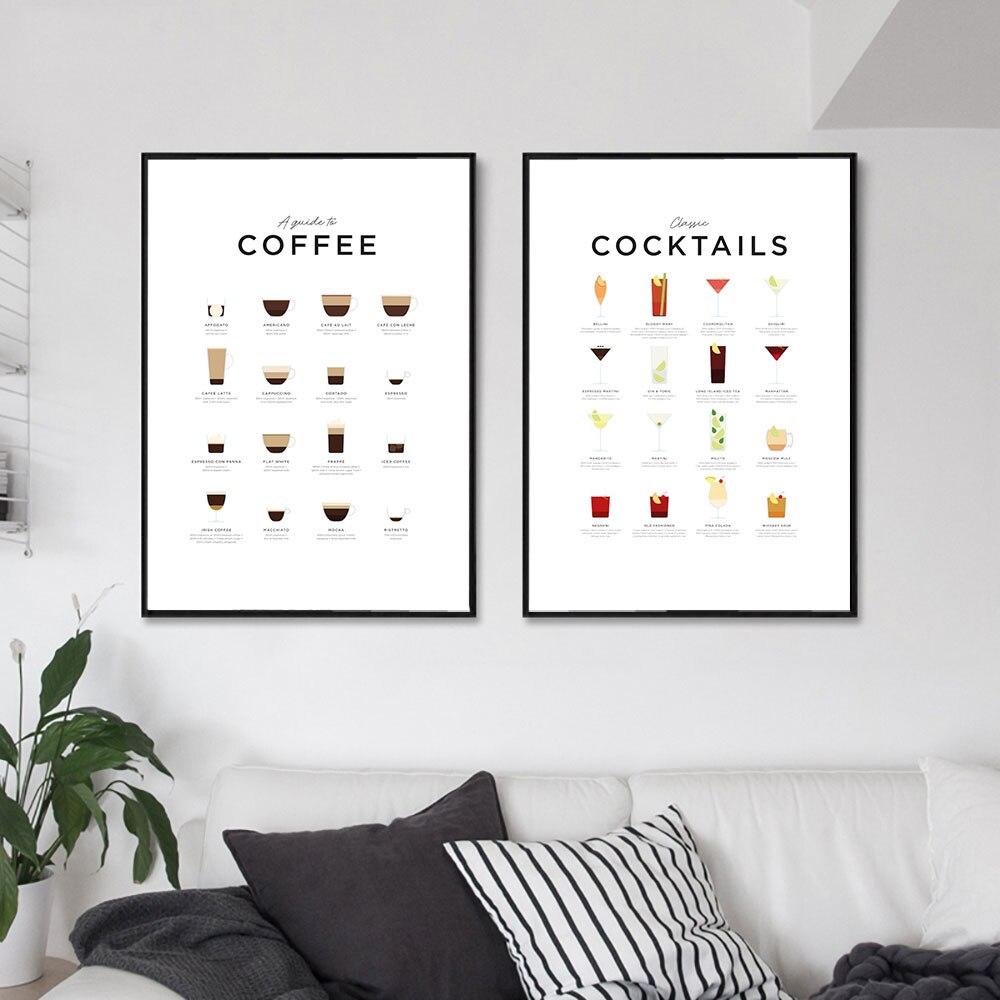 HD картины, Постер в скандинавском стиле, Настенная картина, кофейное меню, модульные принты, Современная Картина на холсте для гостиной, укр...
