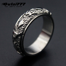 oulai777  mens rings punk wholesale lots bulk stainless steel male ring accesories vintage phalangeal for men jewelry