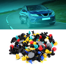 200pcs Assorted Car Door Trim Bumper Clip Rivets Buckle Screws Push Fastener Retainer Universal Assorted Car Fasteners