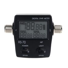 NISSEI RS 70 Digital SWR Power Meter Counter Micro USB DC 5V Output 1.6 60MHz