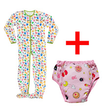 Printed With Pacifier DDLG Adult Training Pants Snap Crotch Romper Long Jumpsuit Sleepwear Bodysuit For Adult Baby Boys, Girls