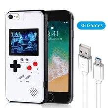 El Retro oyun konsolu telefon iphone için kılıf 6 7 8 artı (beyaz, 6/6s/6 artı/6s/7/8) oyun boy