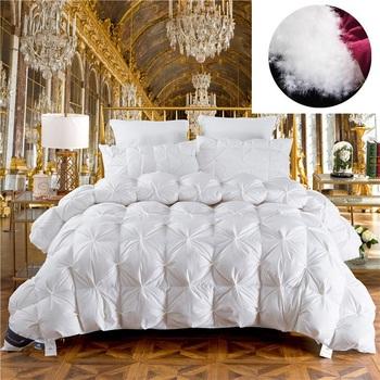 Luksusowy puch gęsi kołdra zimowa kołdra kołdra kołdra wypełnienie pokrowiec bawełniany Twin Queen King pełny wymiar na domowy hotel tanie i dobre opinie ZWJHOMT duvet
