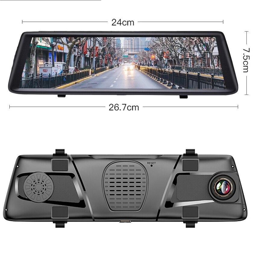 Anstar 10 4G Автомобильный видеорегистратор HD 1080P WiFi Android видео рекордер gps навигация ADAS двойной объектив видеорегистратор Автомобильная камера в зеркале заднего вида - 6