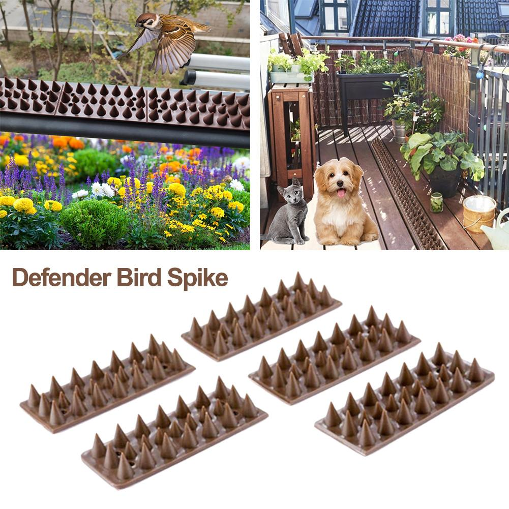 5PCS/Set Harmless Plastic Defender Bird Spike Wild Cat Fence Spikes Yard Proof Bird Spikes Fence For Anti-Climbing Security