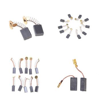 5 rozmiarów 10 sztuk Mini wiertarka części zamienne do szlifierki elektrycznej części zamienne do szczotek węglowych na silniki elektryczne narzędzie obrotowe tanie i dobre opinie HELTC Carbon Brushes
