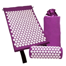 Acupressure Massage Mat with Pillow for Stress/Pain/Tension Relief Body relax therapy neck pillow hot jade electric body massage stress pain relief relax cushion for sale