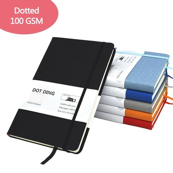 A5 Dotted Bullet Hardcover Notebook 100 GSM Paper Stationey Diary Writing Planner Office School Supplies Agenda 2021 Journal 1